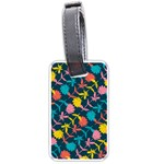 Colorful Floral Pattern Luggage Tags (One Side)  Front