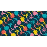 Colorful Floral Pattern Magic Photo Cubes Long Side 1