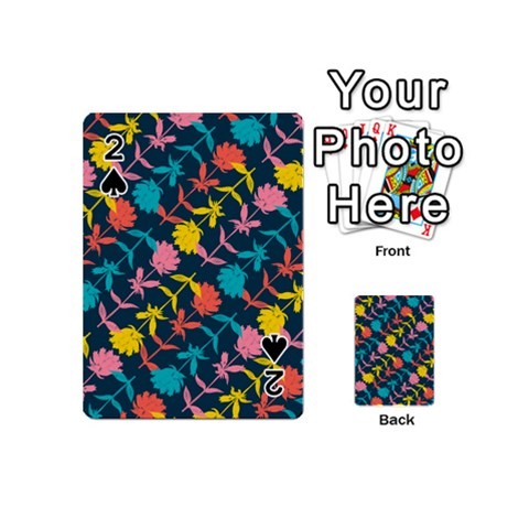 Colorful Floral Pattern Playing Cards 54 (Mini)