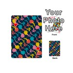 Colorful Floral Pattern Playing Cards 54 (Mini)  Front - Heart7