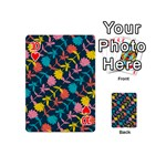 Colorful Floral Pattern Playing Cards 54 (Mini)  Front - Heart10