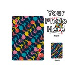 Colorful Floral Pattern Playing Cards 54 (Mini)  Front - Diamond9