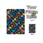 Colorful Floral Pattern Playing Cards 54 (Mini)  Front - Club3