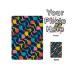 Colorful Floral Pattern Playing Cards 54 (Mini)  Back