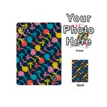 Colorful Floral Pattern Playing Cards 54 (Mini)  Front - Spade9