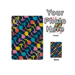 Colorful Floral Pattern Playing Cards 54 (Mini)  Front - Spade10