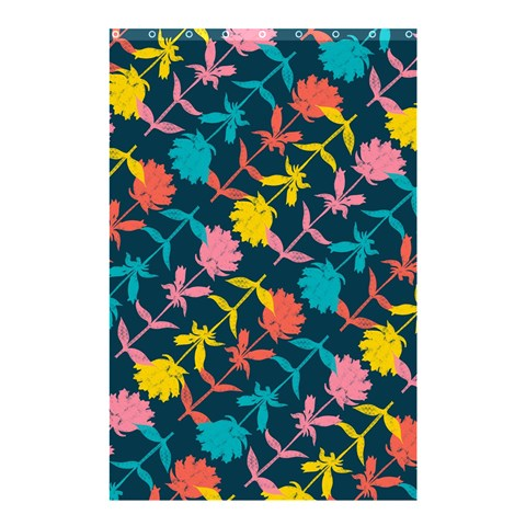Colorful Floral Pattern Shower Curtain 48  x 72  (Small)