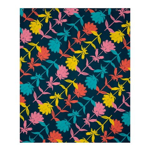 Colorful Floral Pattern Shower Curtain 60  x 72  (Medium)