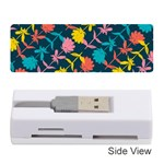 Colorful Floral Pattern Memory Card Reader (Stick)  Front