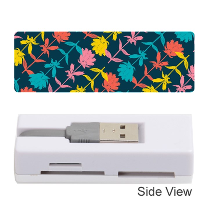 Colorful Floral Pattern Memory Card Reader (Stick)