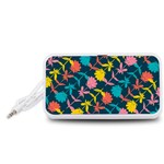 Colorful Floral Pattern Portable Speaker (White)  Front