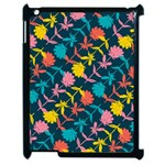 Colorful Floral Pattern Apple iPad 2 Case (Black) Front
