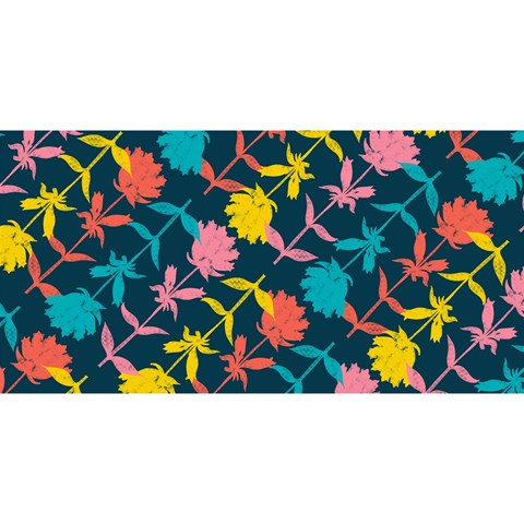 Colorful Floral Pattern YOU ARE INVITED 3D Greeting Card (8x4)