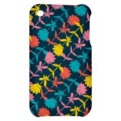 Colorful Floral Pattern Apple iPhone 3G/3GS Hardshell Case