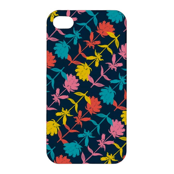 Colorful Floral Pattern Apple iPhone 4/4S Hardshell Case