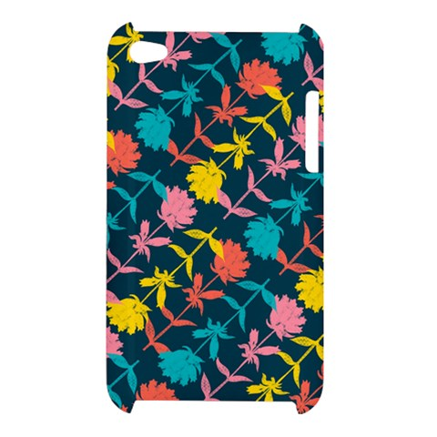 Colorful Floral Pattern Apple iPod Touch 4