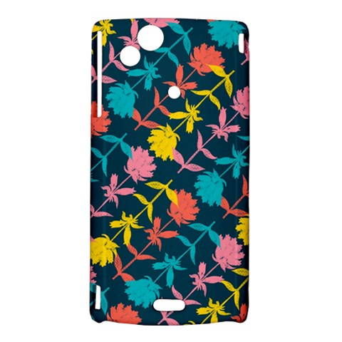Colorful Floral Pattern Sony Xperia Arc