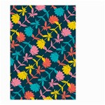 Colorful Floral Pattern Small Garden Flag (Two Sides) Back