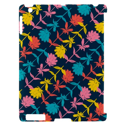 Colorful Floral Pattern Apple iPad 2 Hardshell Case (Compatible with Smart Cover)