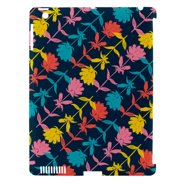 Colorful Floral Pattern Apple iPad 3/4 Hardshell Case (Compatible with Smart Cover)
