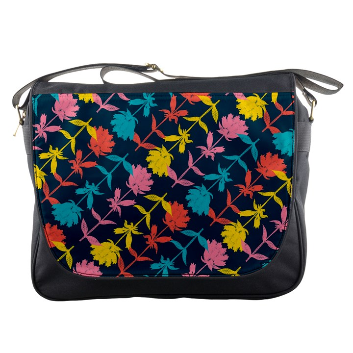 Colorful Floral Pattern Messenger Bags