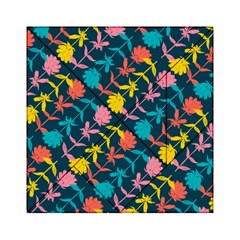 Colorful Floral Pattern Acrylic Tangram Puzzle (6  x 6 )