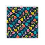 Colorful Floral Pattern Acrylic Tangram Puzzle (4  x 4 ) Front