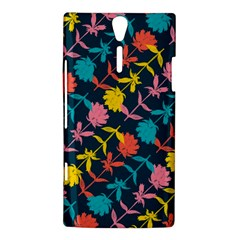 Colorful Floral Pattern Sony Xperia S