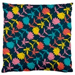 Colorful Floral Pattern Large Cushion Case (One Side) Front