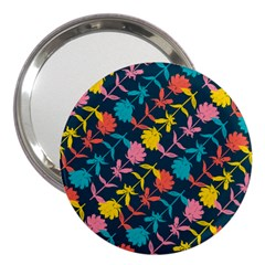 Colorful Floral Pattern 3  Handbag Mirrors