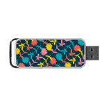 Colorful Floral Pattern Portable USB Flash (One Side) Front