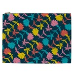 Colorful Floral Pattern Cosmetic Bag (XXL)  Front
