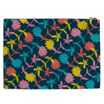Colorful Floral Pattern Cosmetic Bag (XXL)  Back