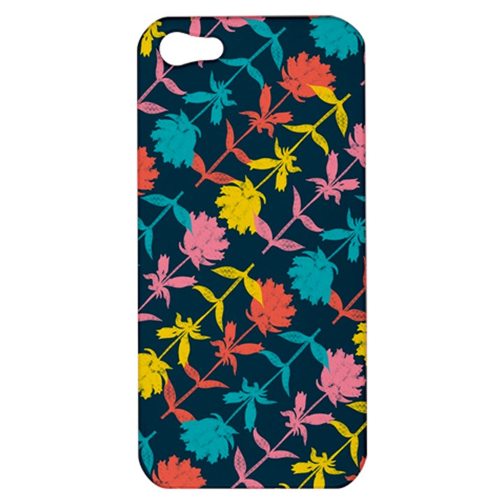 Colorful Floral Pattern Apple iPhone 5 Hardshell Case