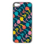 Colorful Floral Pattern Apple iPhone 5 Case (Silver) Front
