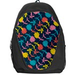 Colorful Floral Pattern Backpack Bag Front