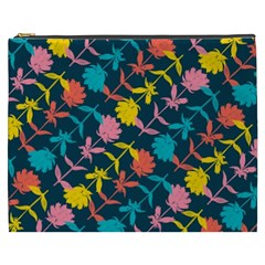 Colorful Floral Pattern Cosmetic Bag (XXXL)