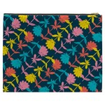 Colorful Floral Pattern Cosmetic Bag (XXXL)  Back