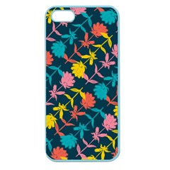 Colorful Floral Pattern Apple Seamless Iphone 5 Case (color)