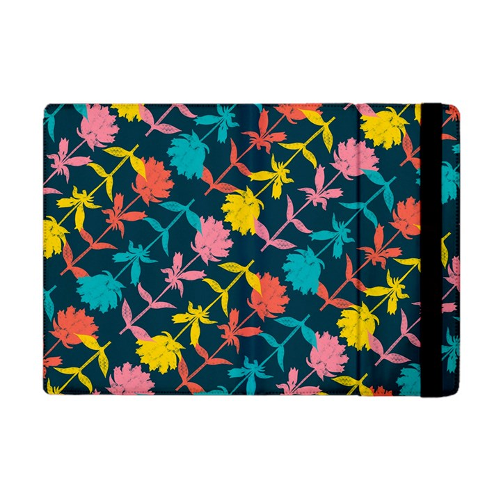 Colorful Floral Pattern Apple iPad Mini Flip Case