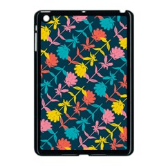 Colorful Floral Pattern Apple iPad Mini Case (Black)