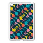 Colorful Floral Pattern Apple iPad Mini Case (White) Front