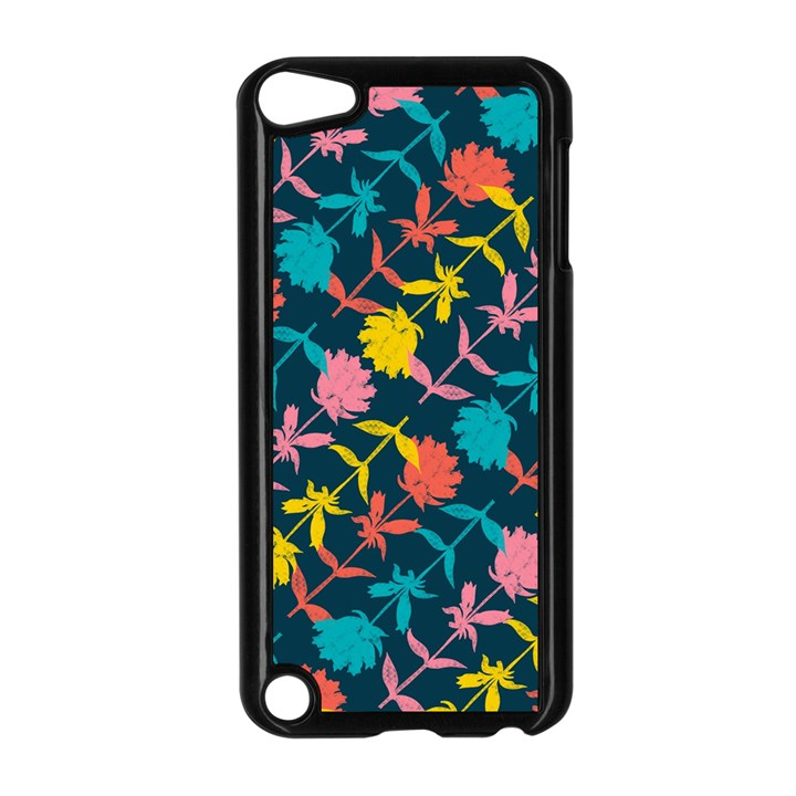 Colorful Floral Pattern Apple iPod Touch 5 Case (Black)