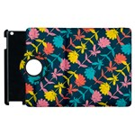 Colorful Floral Pattern Apple iPad 3/4 Flip 360 Case Front