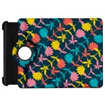 Colorful Floral Pattern Kindle Fire HD Flip 360 Case Front