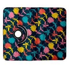 Colorful Floral Pattern Samsung Galaxy Note II Flip 360 Case