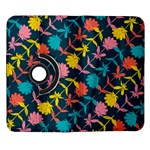 Colorful Floral Pattern Samsung Galaxy Note II Flip 360 Case Front