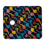 Colorful Floral Pattern Samsung Galaxy S  III Flip 360 Case Front