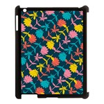 Colorful Floral Pattern Apple iPad 3/4 Case (Black) Front