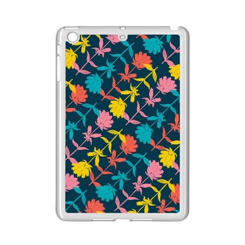 Colorful Floral Pattern iPad Mini 2 Enamel Coated Cases